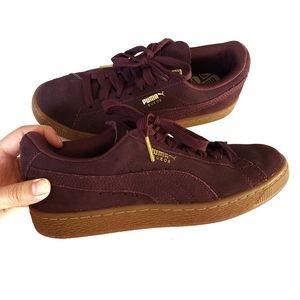PUMA Suede Classic Gold Sneakers Size 7